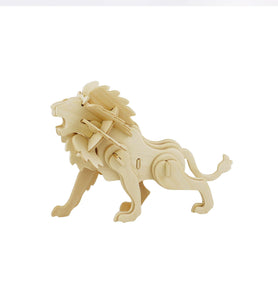 Hands Craft JP225 DIY 3D Wooden Puzzle: Lion