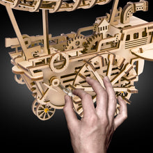 Load image into Gallery viewer, LK702 DIY Laser Cut Wooden Puzzle Mechanical Windup: Air Vehicle