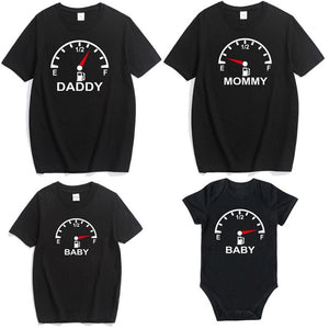 Summer Family Look Shirt Mommy and Me Clothes Love WIFI Battery 2019 Family Matching T Shirt Fashion Family Outfit Set Tees Tops