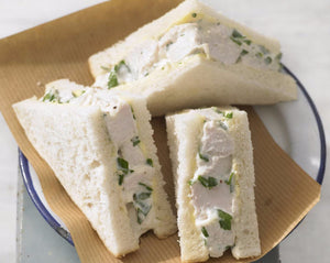 Classic roast chicken sambos, waldorf salad, fluffy white bread, lemon mayonnaise x 30
