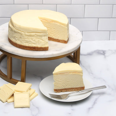 White Chocolate Ganache cheesecake
