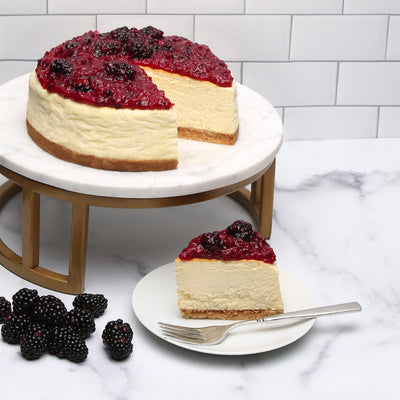 Blackberry Cloud cheesecake