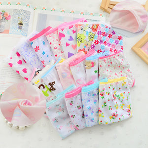 12Pc/lot  Baby Girls Underwear Cotton Panties for Girls Kids Short Briefs Children Underpants 2-12Y