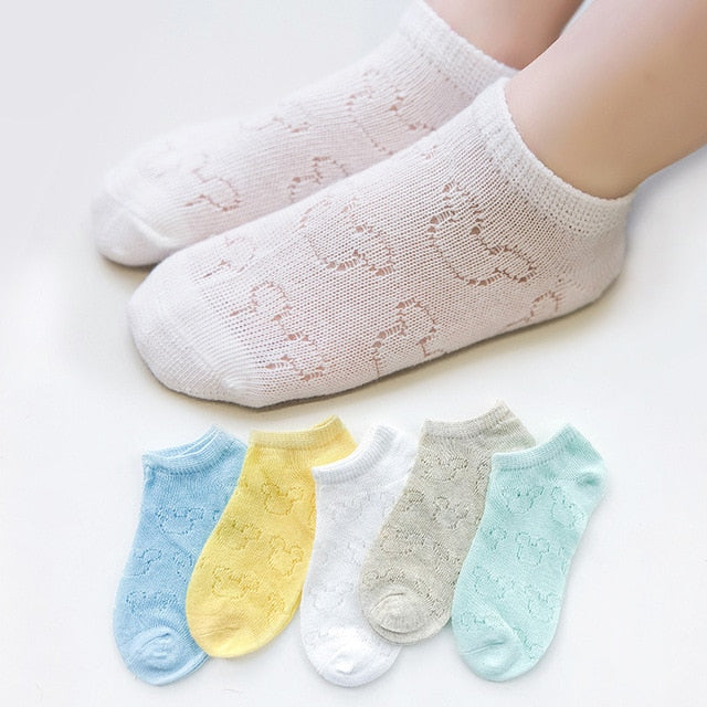 5 pairs/lot Spring Summer new Kids Cotton Socks. Boy Girl fashion Ultrathin Mesh Socks.For 1-12 years Children Socks gifts CN