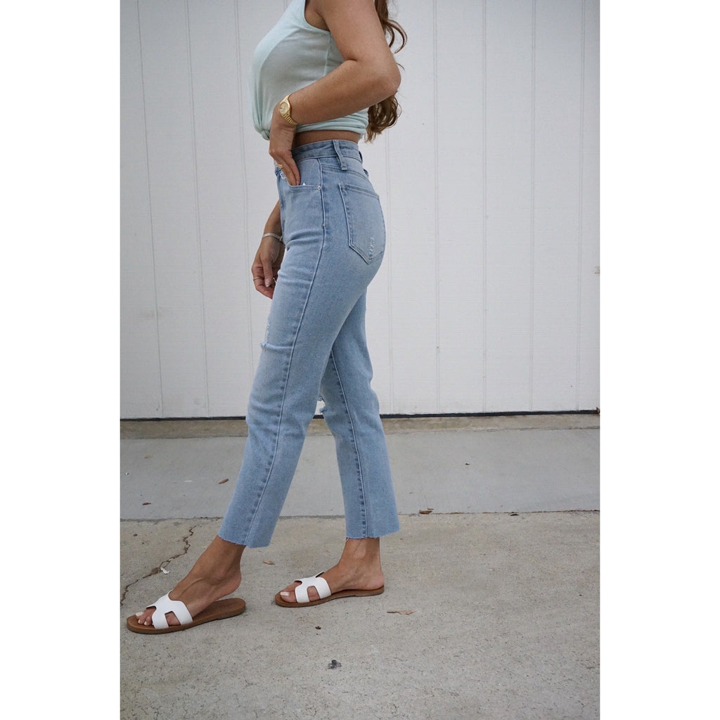 Vintage Denim High Rise Straight Leg Jeans
