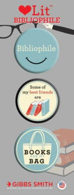 Bibliophile 3 Badge Set-9781423649779