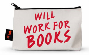 Will Work For Books Pencil Case-9781423650225