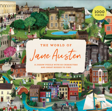 The World of Jane Austen : A Jigsaw Puzzle with 60 Characters and Great Houses to Find-9781786279118