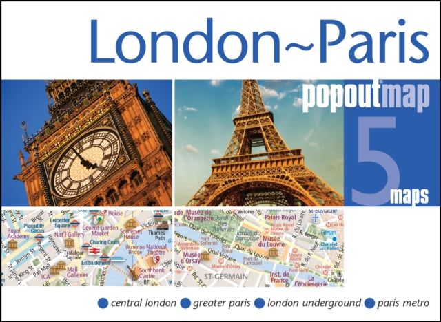 London & Paris Popout Map-9781910218174