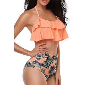 Neck Two Piece Swimsuit