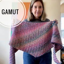 Load image into Gallery viewer, Gamut Worsted Shawl Kit