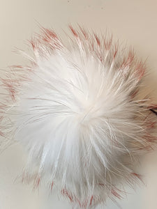 Fur Pom Poms with ribbon ties