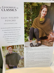Churchmouse Easy Folded Poncho Pattern