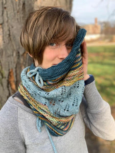 Dream in Color Holiday Kit Nest & Burrow cowl by Sarah B. Abram
