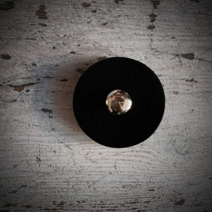 1 1/2 inch Pedestal Button - Black