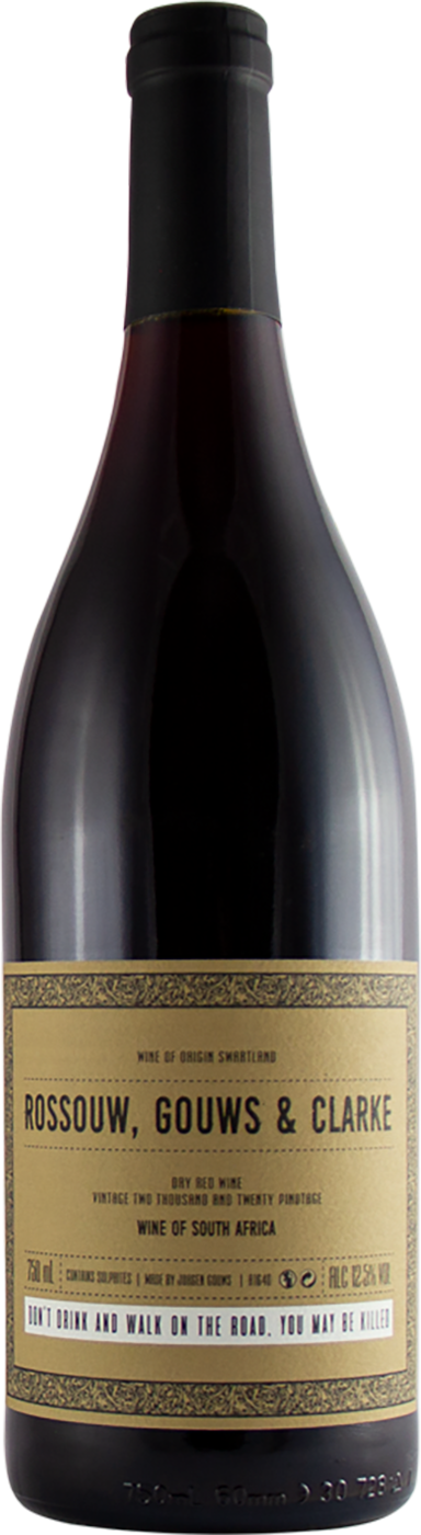 Rossouw, Gouws & Clarke 'Dry Red' Pinotage 2019
