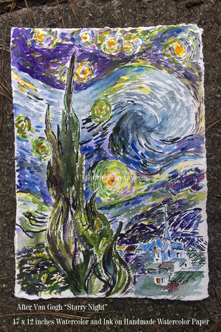 After Vincent van Gogh Starry Night