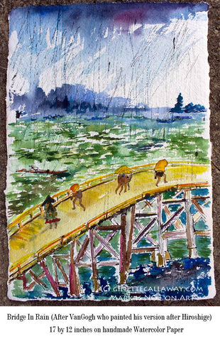 Bridge In The Rain After Hiroshige