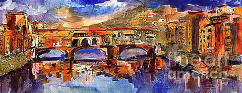 Ponte Vecchio Florence Watercolor Art prints