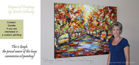 Custom Impressionist Paintings by Ginette Callaway