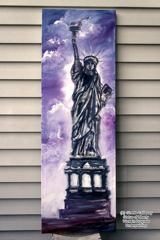 Under Painting for Lady Liberty Oil Painting