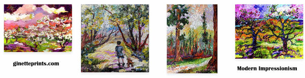 Impressionist Oil Paintings Art prints by Ginette