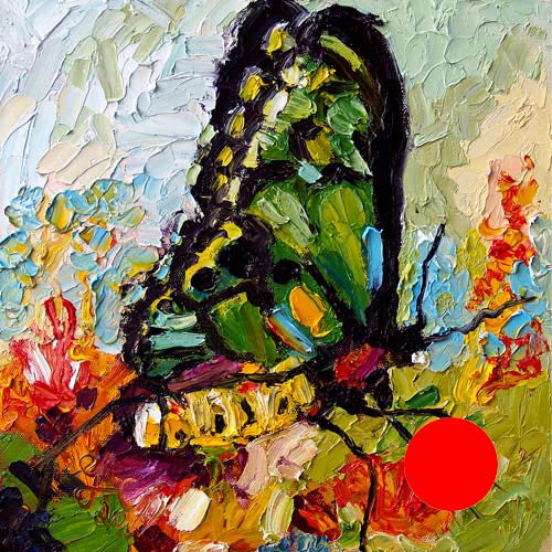 SOLD Tropical Butterfly Impressionist Original Oil by Ginette Callaway , Sold - Ginette Fine Art, The Art of Ginette Callaway  - 1