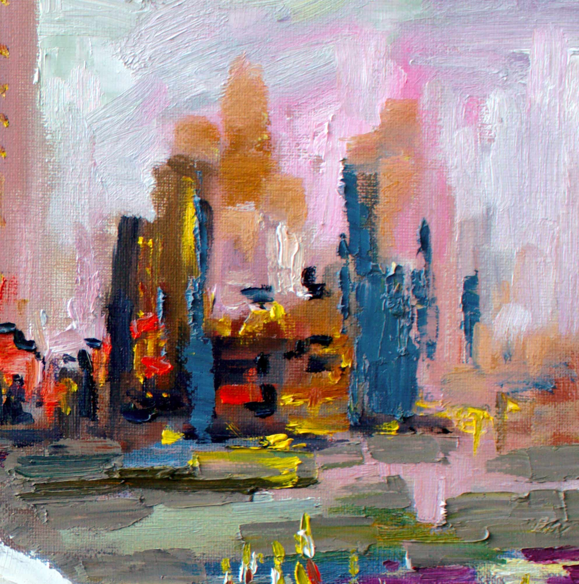 detail Impressionist Landscape and Cityscape