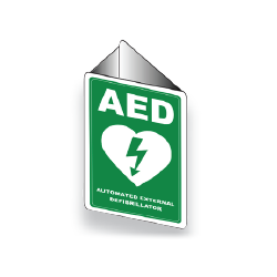 Defibrillator Wall Sign Angled