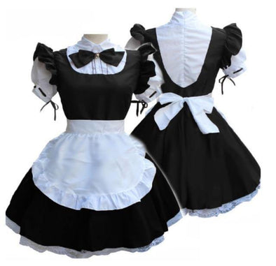 Short Sleeve Retro French Maid Costume