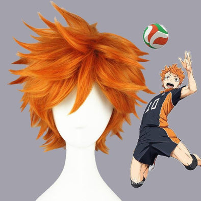 Haikyuu!! Hinata Syouyou Short Orange Fluffy Layered Cosplay Wigs