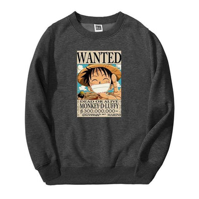 One Piece Monkey D Luffy Wanted Sweatshirt