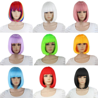 Short Wigs With Various Colors