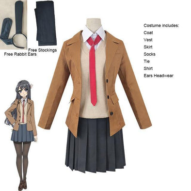 Sakurajima Mai Cosplay Costume Set