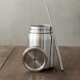 Woodgrain Mason Jars 12oz