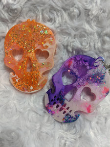 Skull Glitter Resin Key chains - Cupping It Real