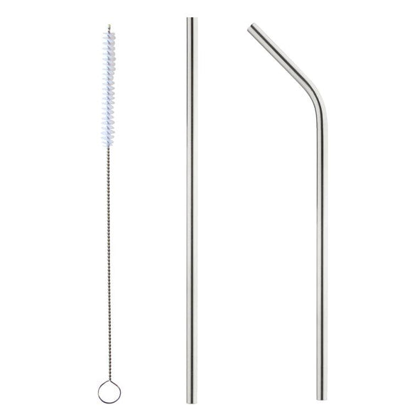 Stainless steel straws W/Brush - Cupping It Real