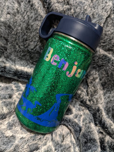 Kids Dinosaur Glitter Tumbler - Cupping It Real