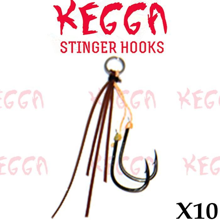 Brown Kegga Stinger Hooks