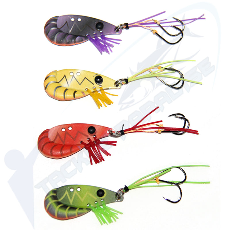 38mm Prawn Blades Vibes Vibe Fishing Lures [4 Pack]