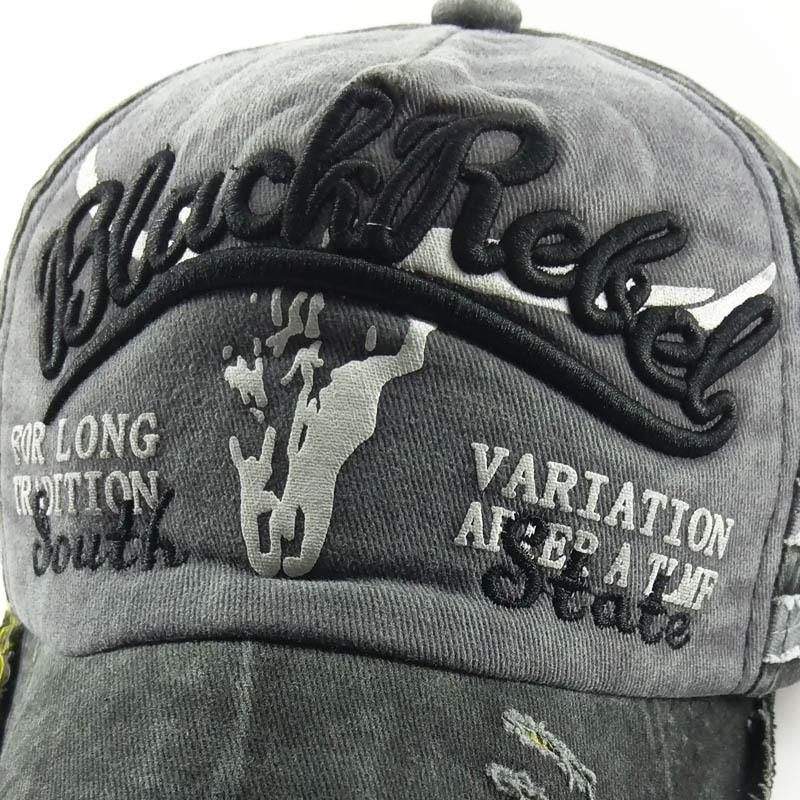 Old Bull Head Explosive Baseball Cap Washed Hat Sun Hat Baseball Cap Sun Hat Men and Women