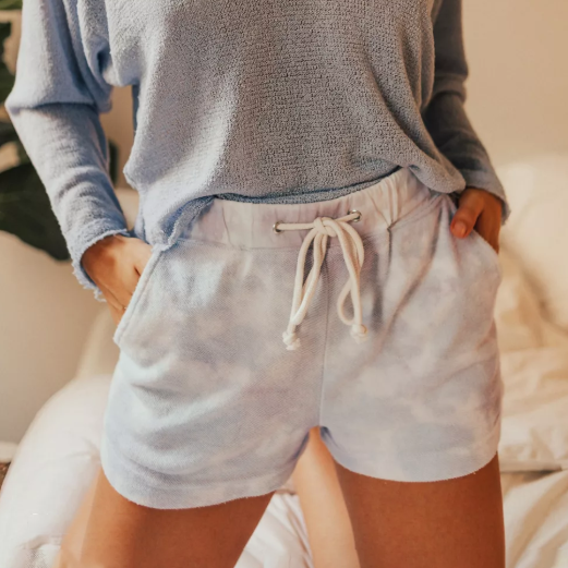 Casual drawstring shorts
