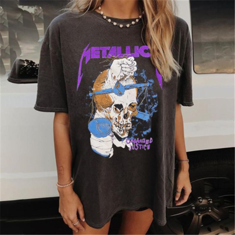 Women's retro casual printed t-shirt