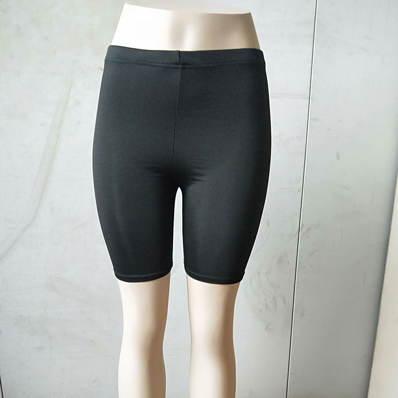 High elastic slim five-point track pants