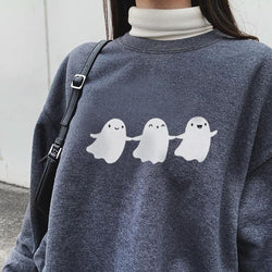 Fashion ghost print casual designer sweatshirt