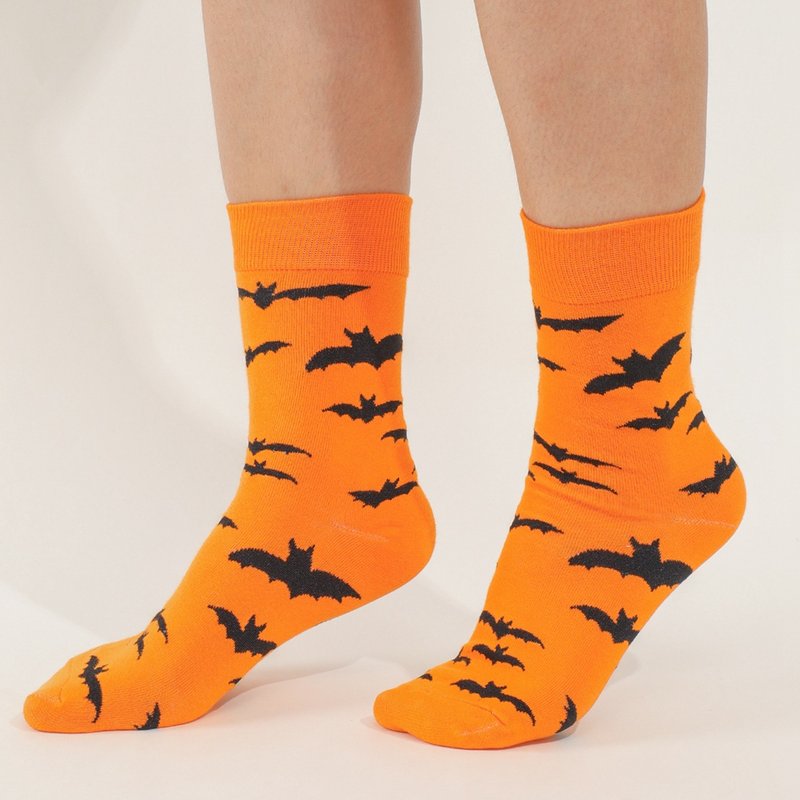 Halloween bat pattern socks