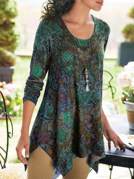 Women Long Sleeve Boho Tops