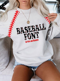 Women's Baseball Front Casual Sweatshirt