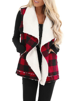 Christmas Cotton V Neck Daily Coat