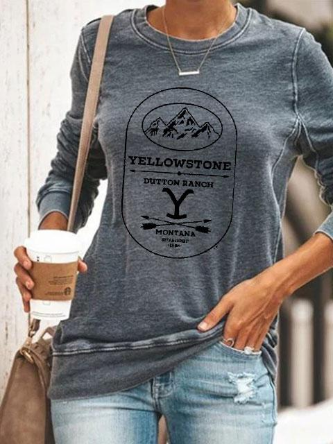 Women's Love Yellow Stone TV Show Pullover
